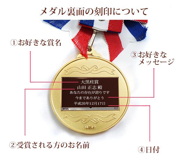 退職祝いに金メダルの贈り物